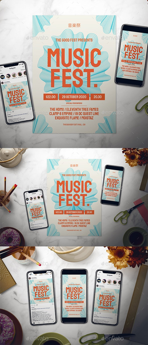Music Festival Flyer Set - Events Flyers