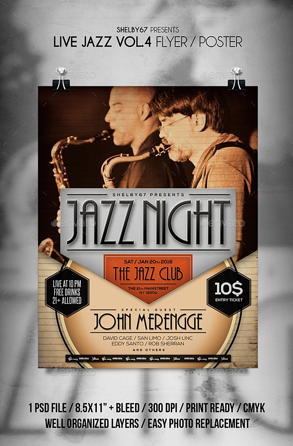Live Jazz Flyer / Poster Vol 4 - Events Flyers