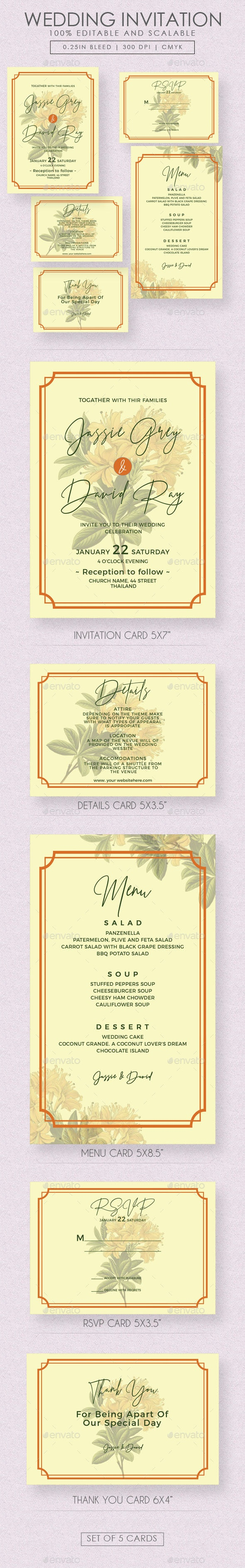 Flourish Wedding Invitation Suite - Weddings Cards & Invites