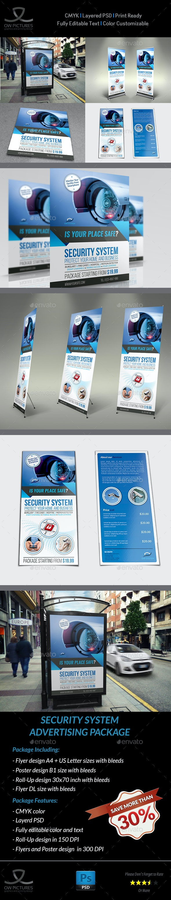 Security System Advertising Bundle Vol.2 - Signage Print Templates
