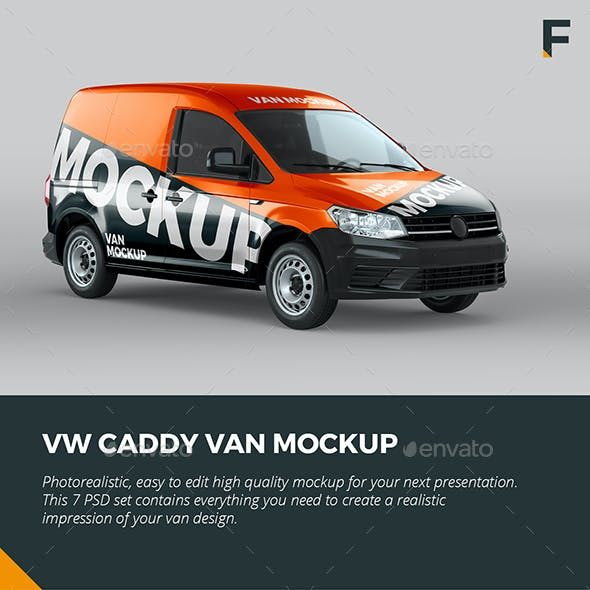 VW Caddy Van Mock up