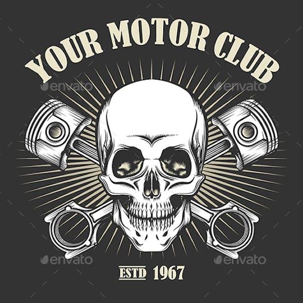 Vintage Motorcycle Club Emblem