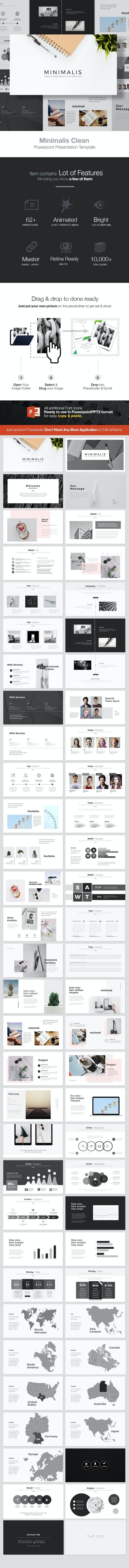 Minimalis Powerpoint Template - Creative PowerPoint Templates