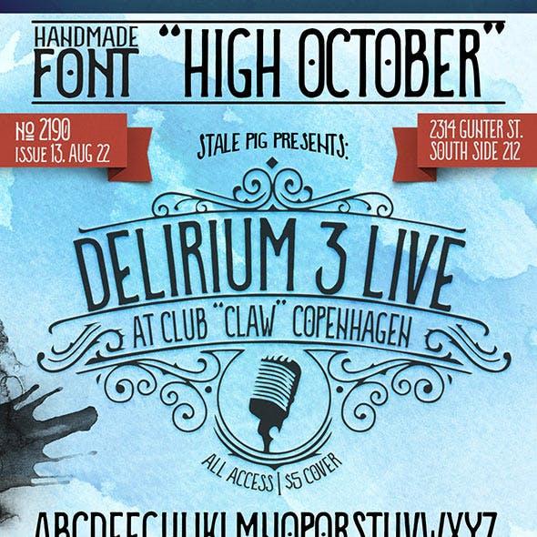 """Handmade Font """"High October"""""""