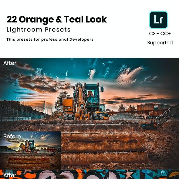 22 Orange & Teal Look Lightroom Preset