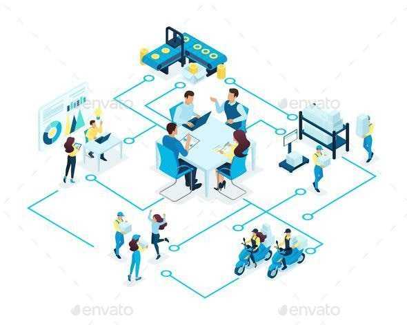 Isometric Concept for Business - Concepts Business