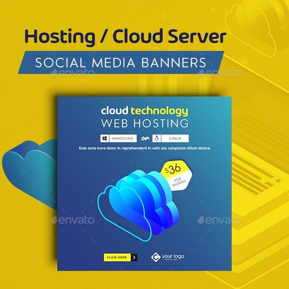 Hosting Facebook and Instagram Banner Set