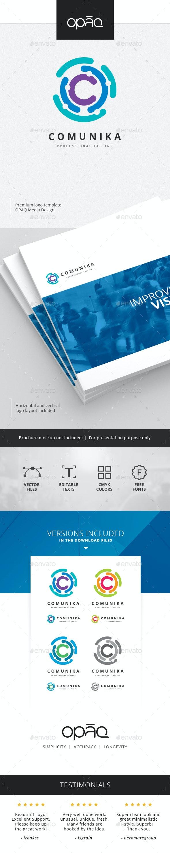 Communication Circular Network Logo - Abstract Logo Templates