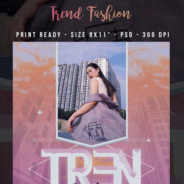 Tren Fashion Show Flyer