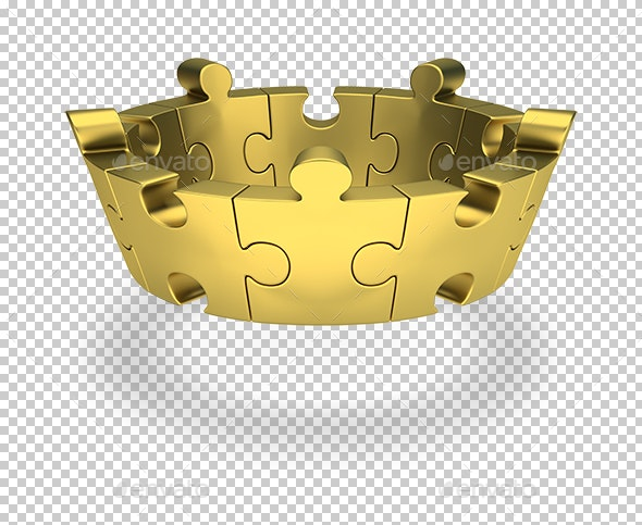 Puzzle Crown - Objects 3D Renders