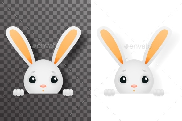 Isolated Easter Bunny - Animals Characters
