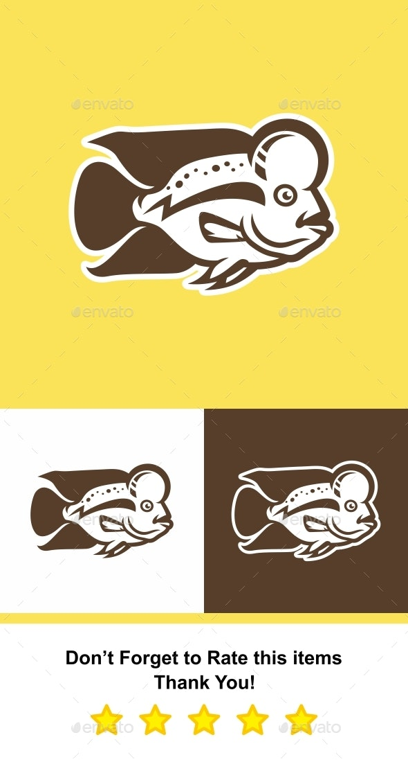 Electric Flower Horn Fish - Animals Characters