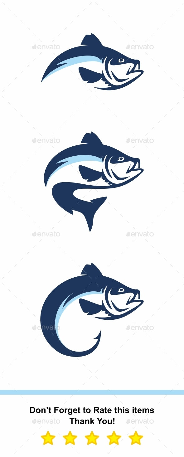 Fish in 3 Style - Animals Characters