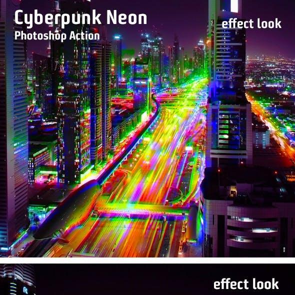 Cyberpunk Neon Photoshop Action