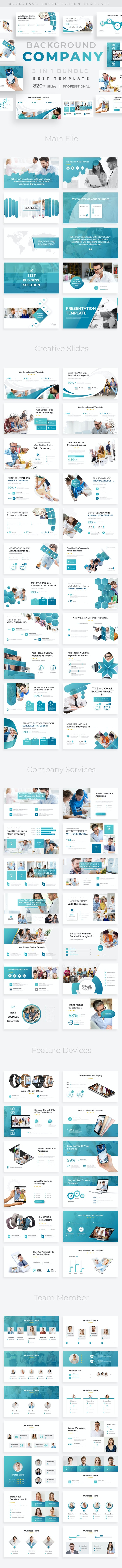 Company Background 3 in 1 Pitch Deck Bundle Keynote Template - Business Keynote Templates