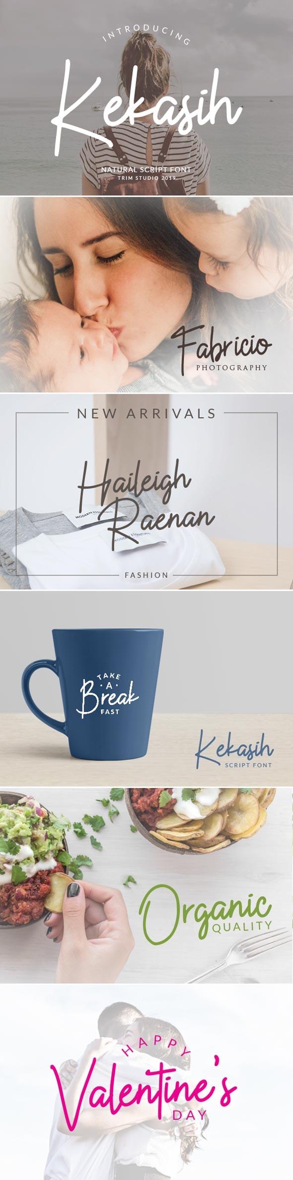 Kekasih Signature Typeface - Hand-writing Script
