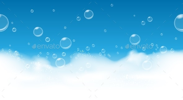 Soap Bubbles Background - Abstract Conceptual