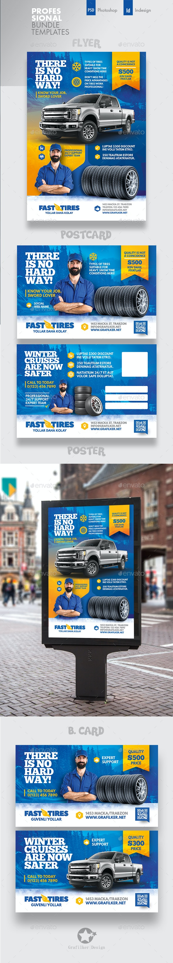 Auto Tires Bundle Templates - Corporate Flyers