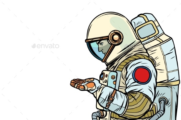 Astronaut with an Empty Palm - People Characters