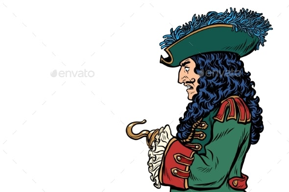 Pirate with Hook Hand - People Characters
