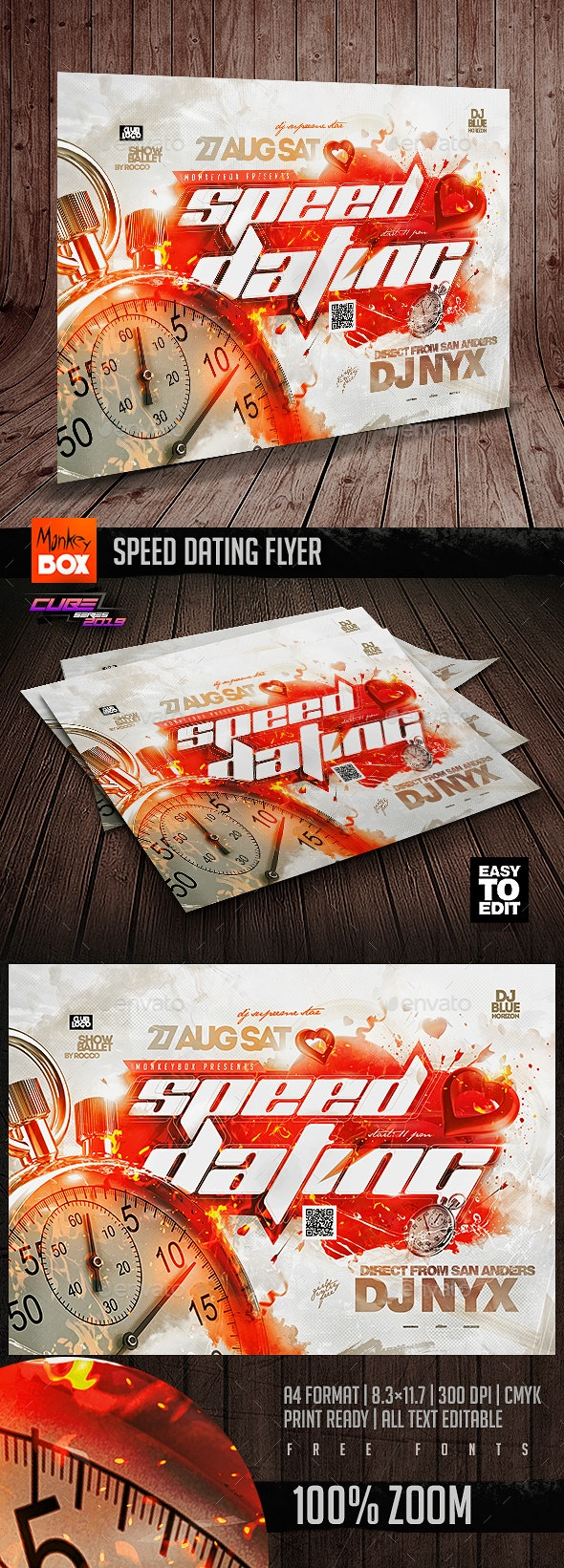 Speed Dating Flyer - Events Flyers