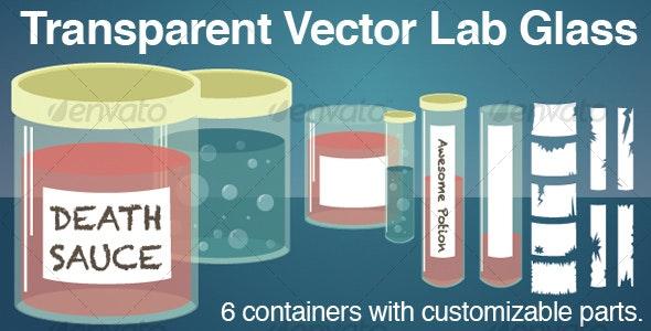Transparent Lab Glass : Jars and Test Tubes - Health/Medicine Conceptual