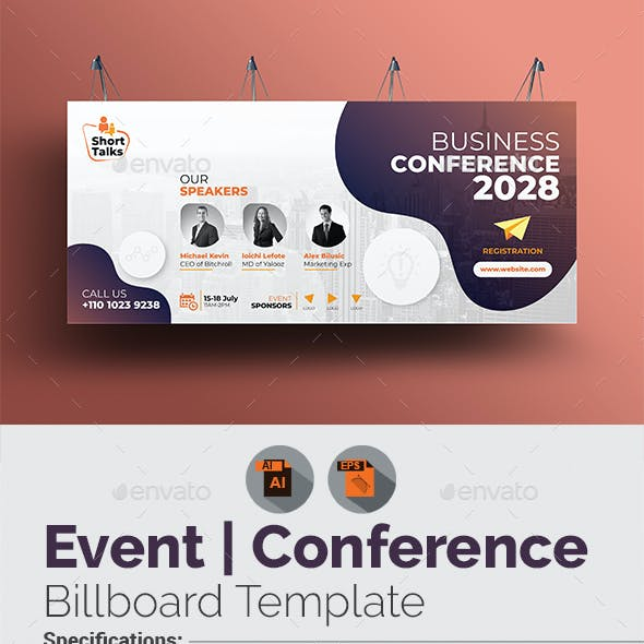 Business Conference Billboard Template