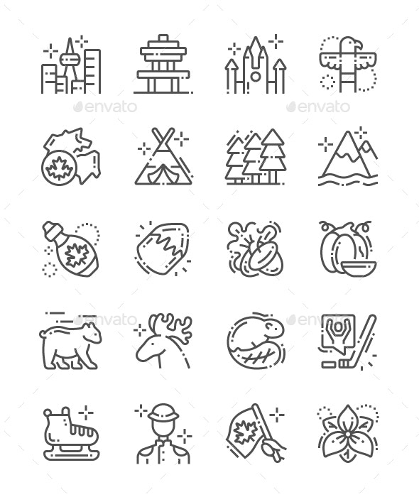 Canada Line Icons - Miscellaneous Characters
