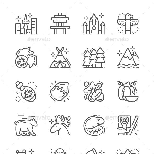 Canada Line Icons