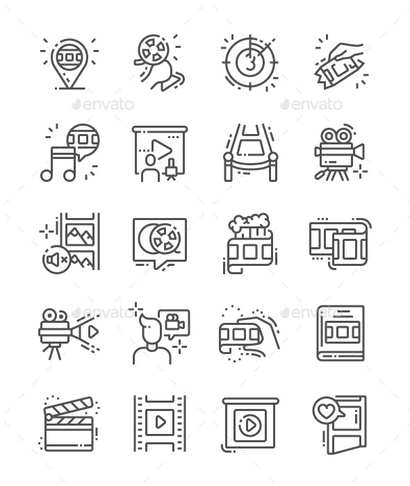 Film Line Icons - Business Icons