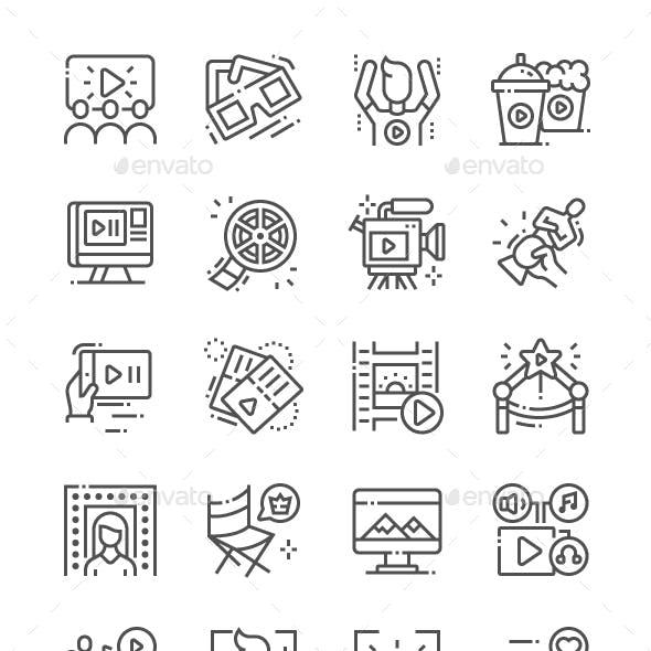 Movie Line Icons