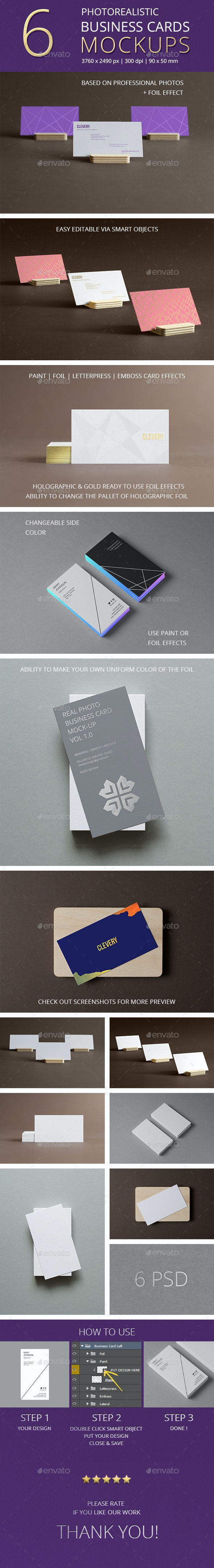 Photorealistic Business Cards Mockup/ Vol 1.0 - Business Cards Print