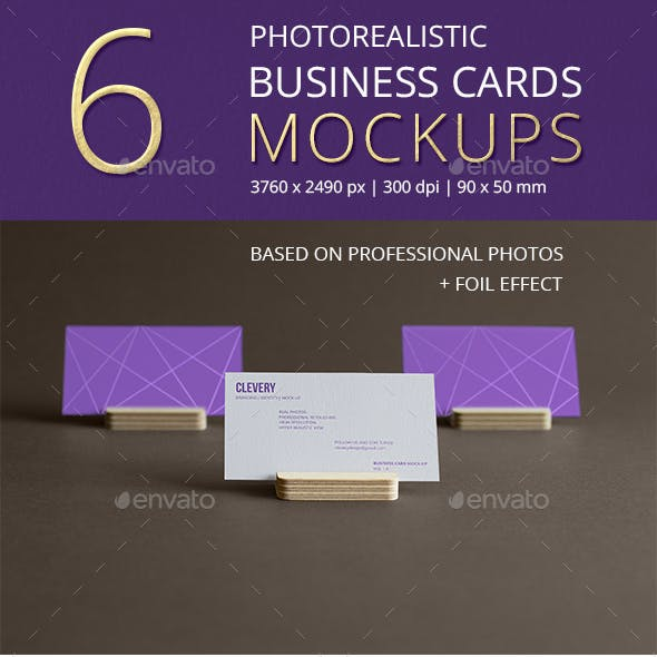 Photorealistic Business Cards Mockup/ Vol 1.0