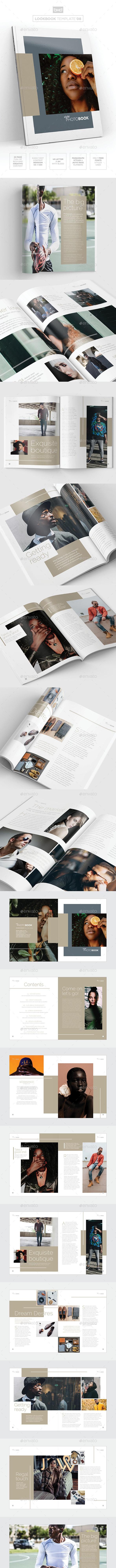 Magazine/Lookbook Template InDesign & Photoshop 08 - Magazines Print Templates
