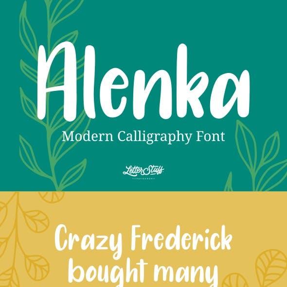 Alenka - Handlettering Font