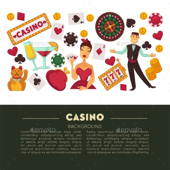 Casino Club and Gambling Roulette and Poker Game - Man-made Objects Objects