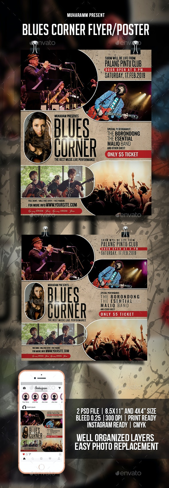 Blues Corner Flyer / Poster - Events Flyers