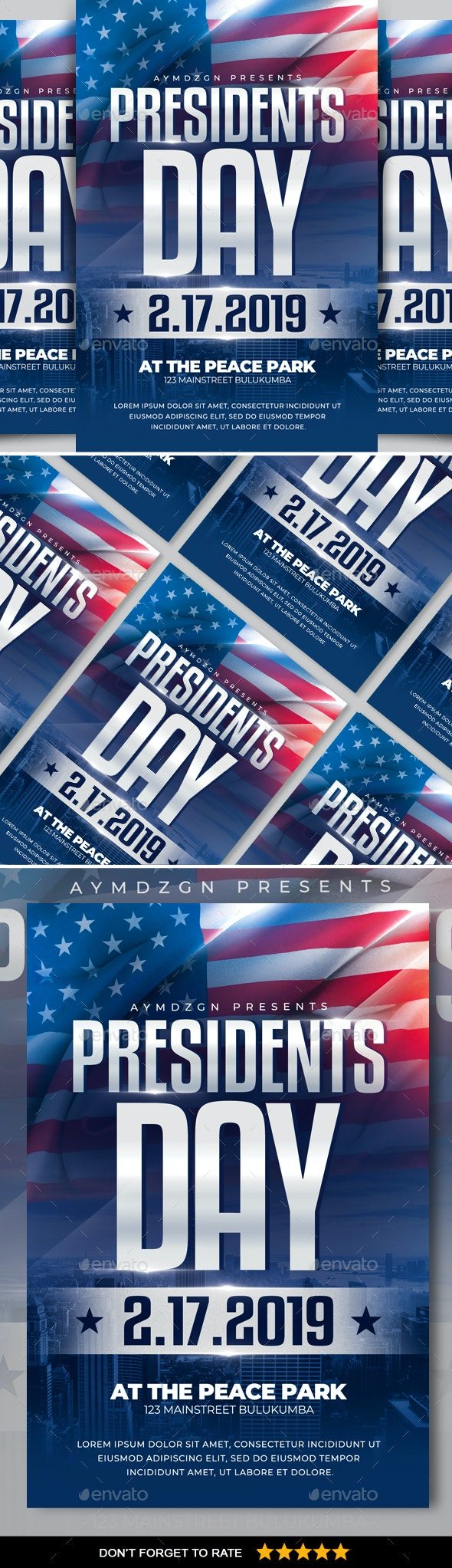 Presidents Day Flyer - Events Flyers