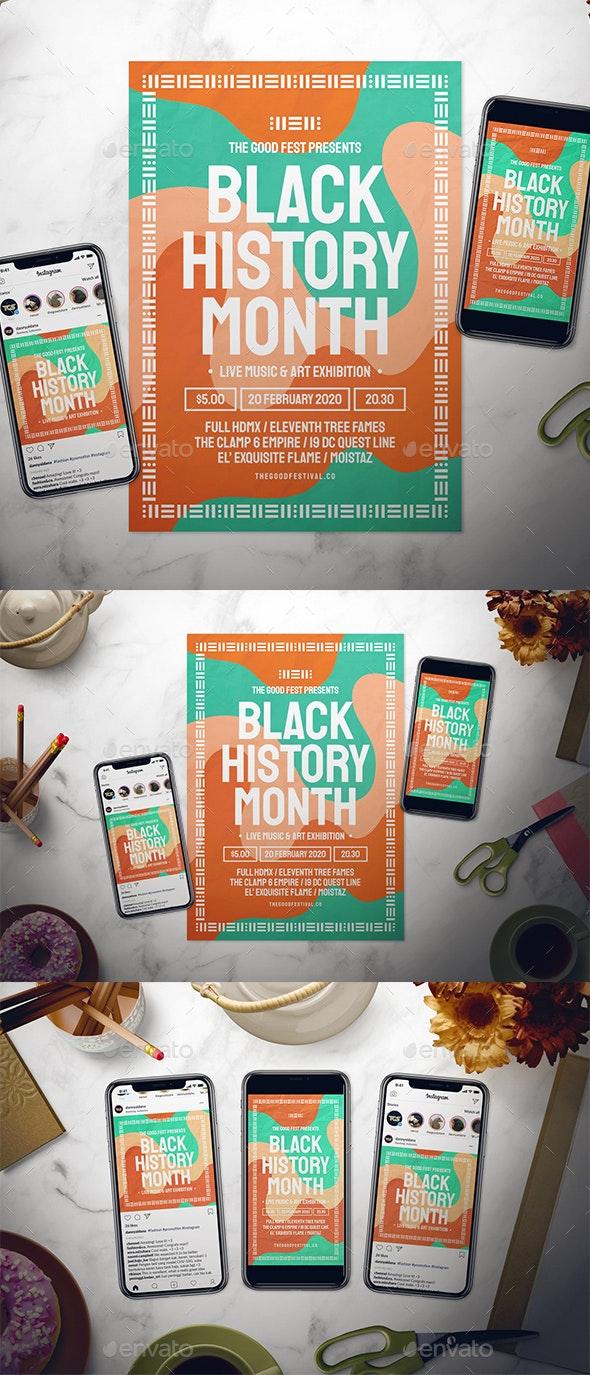 Black History Month Flyer Set - Holidays Events