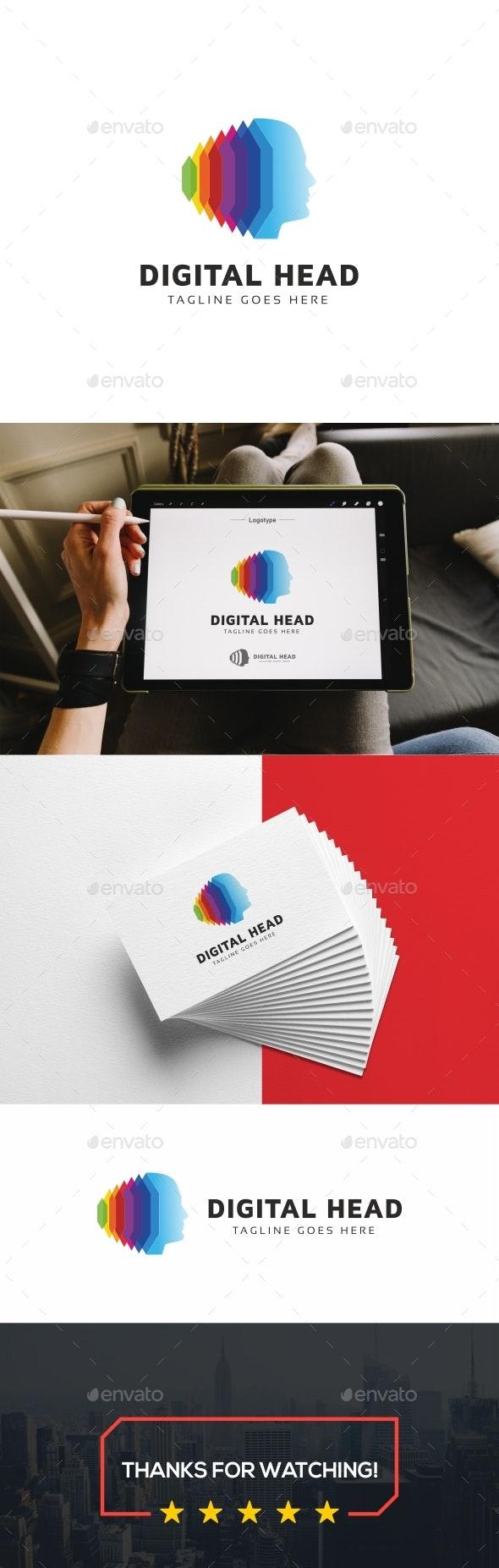 Digital Human Logo - Humans Logo Templates