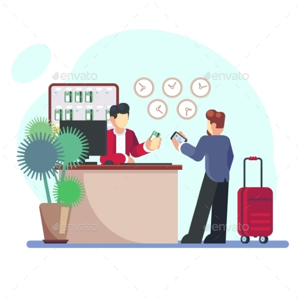 Hotel Check-in Registration of a Hotel Room - Industries Business