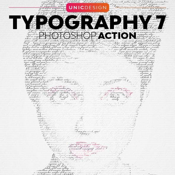 Typography 7 Photoshop Action