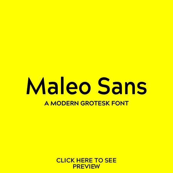 Maleo Sans Font - Miscellaneous Sans-Serif