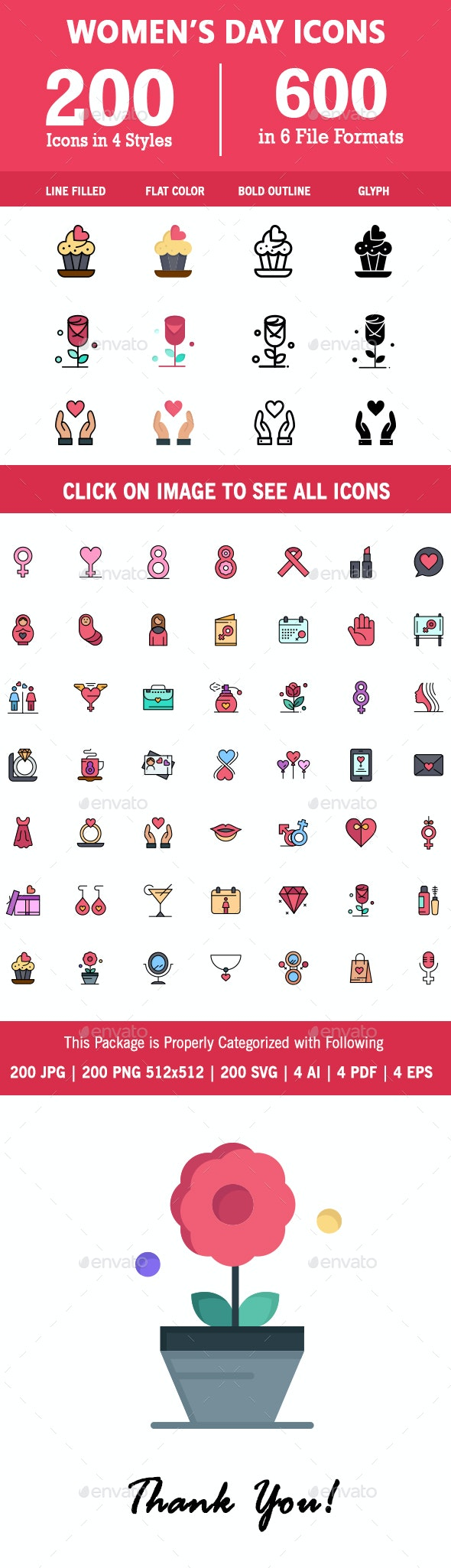 200 Women's Day Icon - Icons