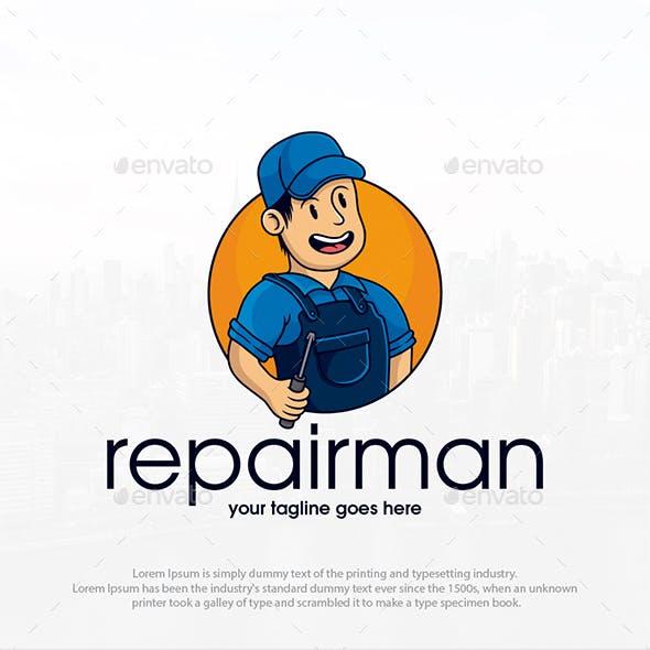 Repairman Mascot Logo Template