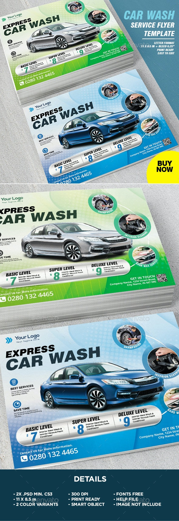 Car Wash Service Flyer Template - Corporate Flyers