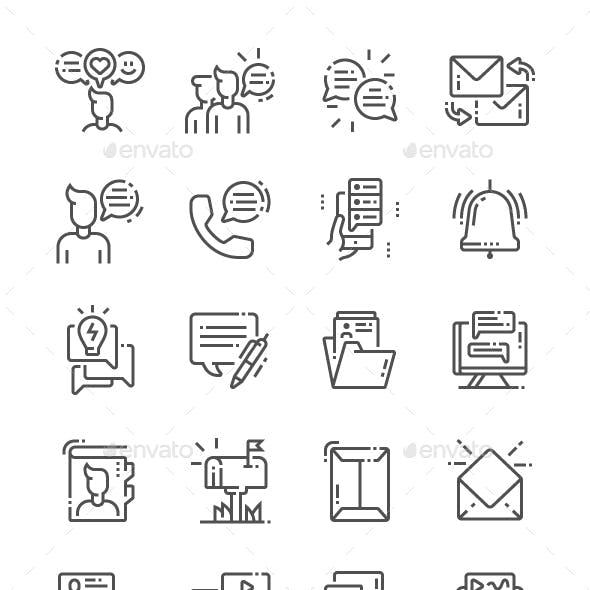 Dialogue assets Line Icons