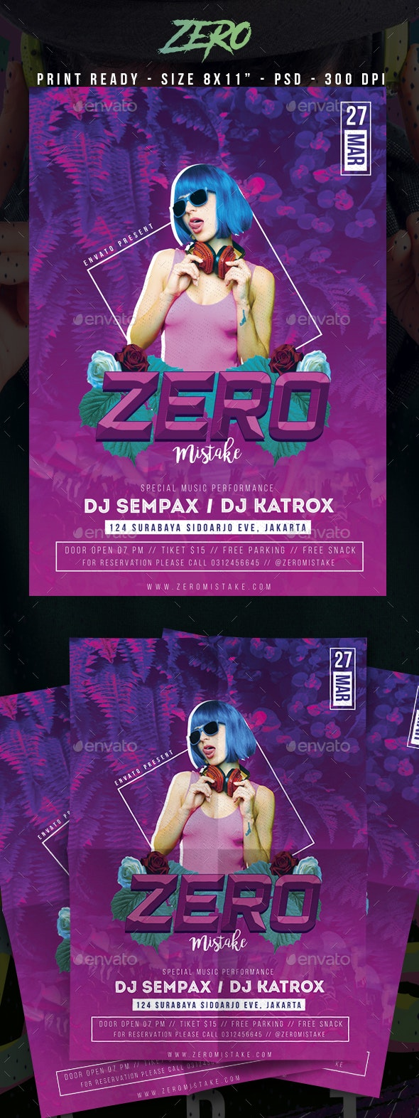 Zero Club Party Flyer - Clubs & Parties Events