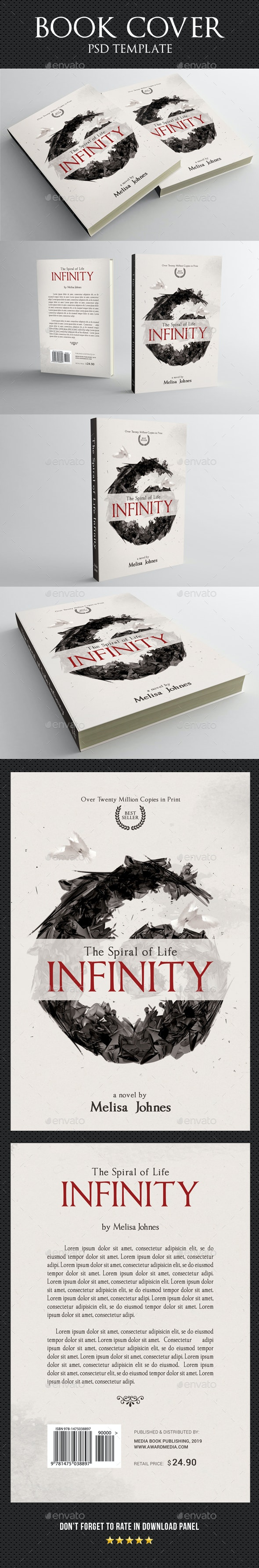 Book Cover Template 58 - Miscellaneous Print Templates