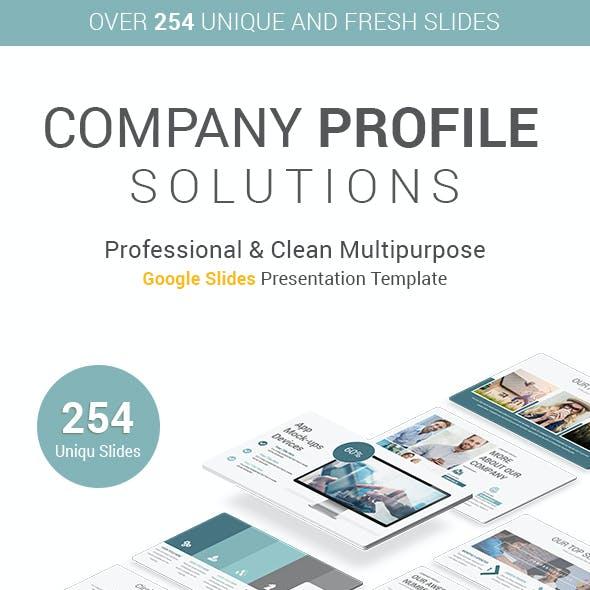 Stunning Company Profile Google Slides Template
